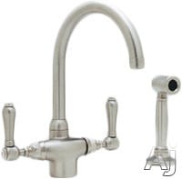 Rohl Country Kitchen Collection A1676LMWSTCB2 - Satin Nickel