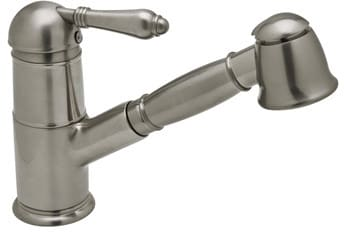 Rohl Country Collection A3410LPAPC2 - Satin Nickel (Metal Lever Shown)