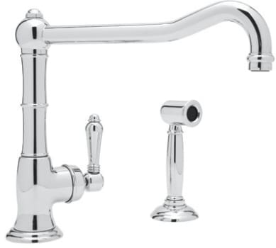 Rohl Country Kitchen Collection A365011LPWSAPC2 - Polished Chrome (shown with metal handle)