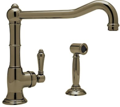 Rohl Country Kitchen Collection A365011LPWSTCB2 - Tuscan Brass (shown with metal handle)