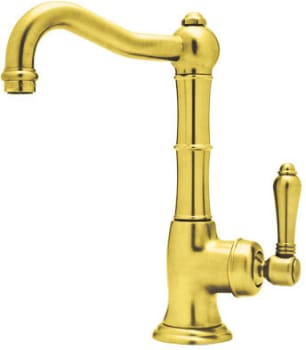Rohl Country Kitchen Collection A365065LPIB2 - Inca Brass (shown with metal handle option)