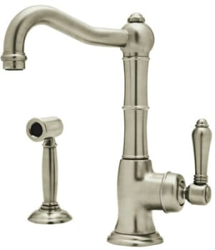 Rohl Country Kitchen Collection A365065LPWSSTN2 - Satin Nickel (shown with metal handle)