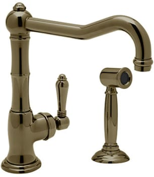 Rohl Country Kitchen Collection A3650LPWSTCB2 - Tuscan Brass (shown with metal handle)