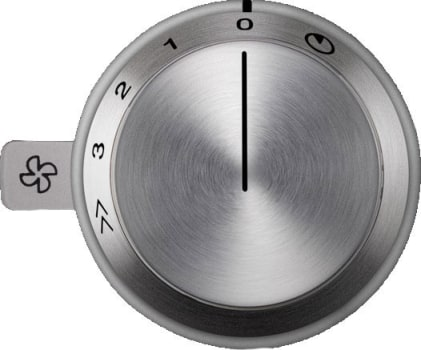 Gaggenau 400 Series AA490711 - Control knob for operation of AR blowers or recirculation blower (one control knob can control up to two VL414 downdraft elements).