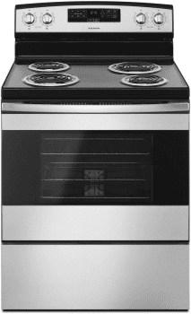 Amana ACR4303MF - Amana 30-inch Electric Range in Black-in-Stainless