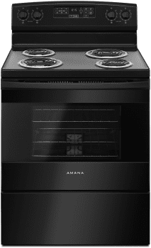 Amana ACR4503SFB - Amana 30 Inch Electric Range in Black