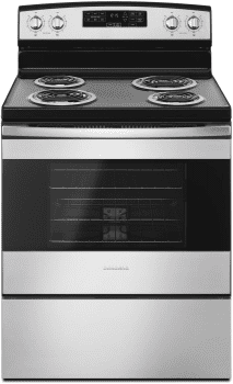 Amana ACR4503SFS - Amana 30 Inch Electric Range in Black-on-Stainless