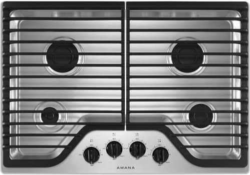 "Amana AGC6540KFS - 30"" Gas Cooktop in Stainless Steel with 4 Sealed Burners (also available in Black or White)"