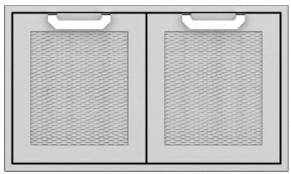 "Hestan AGLP36BK - 36"" Double Sealed Pantry Storage Doors"