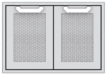 "Hestan AGSD30WH - 30"" Double Storage Doors"