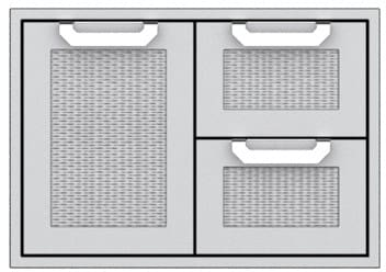 Hestan AGSDR30BK - 30 Inch Double Drawer and Storage Door Combination
