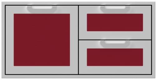 Hestan AGSDR42BG - 42 Inch Double Drawer and Storage Door Combination