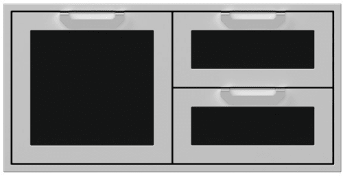 Hestan AGSDR42BK - 42 Inch Double Drawer and Storage Door Combination