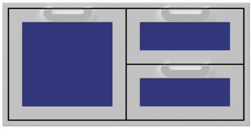 Hestan AGSDR42BU - 42 Inch Double Drawer and Storage Door Combination