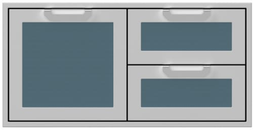 Hestan AGSDR42DG - 42 Inch Double Drawer and Storage Door Combination