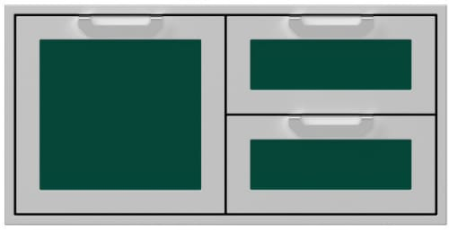 Hestan AGSDR42GR - 42 Inch Double Drawer and Storage Door Combination