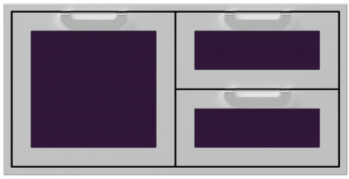 Hestan AGSDR42PP - 42 Inch Double Drawer and Storage Door Combination