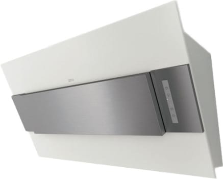 Zephyr Arc Collection AINM80AXX - Arc Incline Designer Wall Hood in Powder Coated White and Stainless Steel