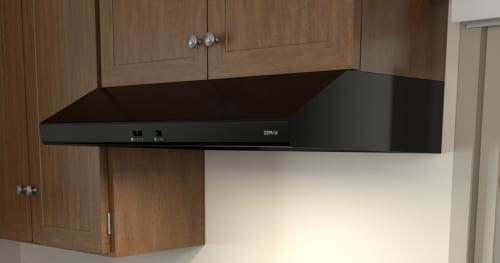 Zephyr AK6500BB - Zephyr's Cyclone Under-Cabinet Range Hood in Black with 600 CFM Internal Blower