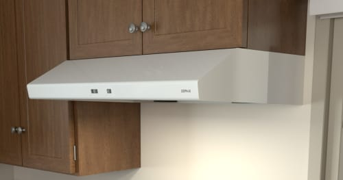 Zephyr AK6536BW - Zephyr's Cyclone Under-Cabinet Range Hood in White with 600 CFM Internal Blower