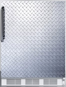 AccuCold AL650BIDPL - Textured Diamond Plate Door with Towel Bar Handle