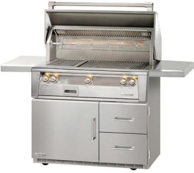 Alfresco ALXE42SZRFGLP - Freestanding LXE Grill on Refrigerated Cart