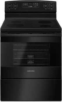 Amana AER6603SFB - 30 Inch Electric Range in Black from Amana