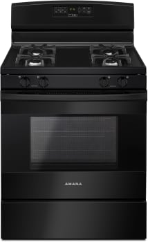 Amana AGR6303MFB - 30 Inch Gas Range in Black Finish from Amana