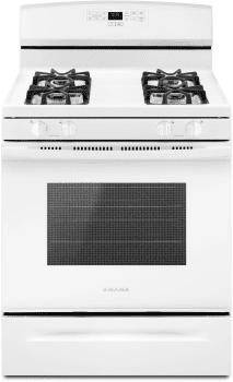 Amana AGR6303MFW - 30 Inch Gas Range in White Finish from Amana