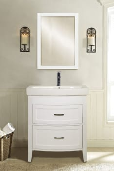 Empire Industries Arch Collection A2402W - Empire Industries 2-Drawer Vanity (also available in Black finish!)