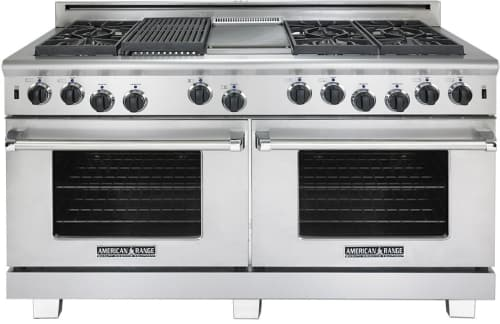 "American Range Cuisine Series ARR660GDGRN - 60"" Gas Range with 6 Burners and Indoor Grill & Griddle"