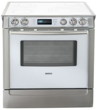 white electric range. Bosch Integra 700 Series HEI7132U - Titanium White Electric Range A