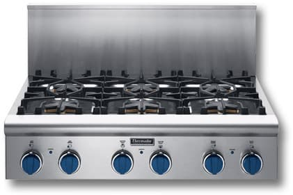Viking Gas Cooktop >> Thermador PC366BS 36 Inch Gas Cooktop with Star Burners (2 ...