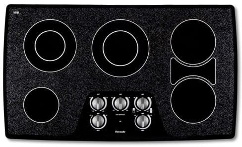 Thermador Cem365cb 36 Inch Smoothtop Electric Cooktop With 5 Ribbon Elements Bridge Element Low Profile Frameless Design And Mechanical Rotary Controls