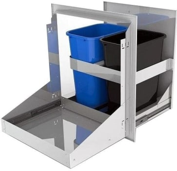 Alfresco AXETC2 - Dual Trash and Recycling Drawer