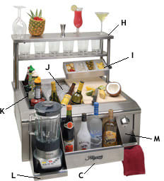 Alfresco BARPACKAGE - Bartending Package (Serving Shelf and Condiment Tray Sold Separately
