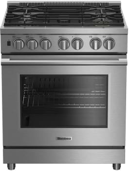 "Blomberg BDFP34550SS - 30"" Pro Style Dual Fuel Self-Cleaning Range"