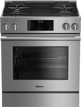 "Blomberg BGR30420SS - 30"" Stainless Steel Gas Range with 4 Sealed Burners and 5.7 European Convection Oven"