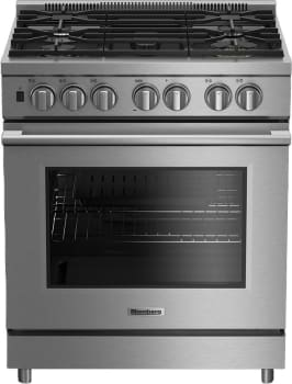 "Blomberg BGRP34520SS - 30"" Stainless Steel Gas Range with 5 Sealed Burners and 5.7 cu. ft. European Convection Oven"