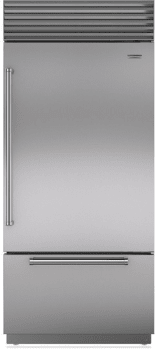 "Sub-Zero BI36UIDSTHLH - 36"" Bottom Freezer Refrigerator with Tubular Handle"
