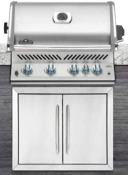 "Napoleon Built-In Series BIPRO500RBNSS1 - 32"" Built-In Grill with 66,000 BTUs and 760 sq. in. Cooking Space - Shown Built In"