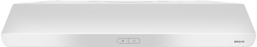 Broan Sahale BKDB136WW - White Front View