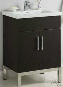 Empire Industries Wd2f2420bwp 24 Inch Contemporary Vanity With Two Door Cabinet Storage Wall Mount Installation No Header And Fiorella Sinktop Compatible Blackwood Polished Finish