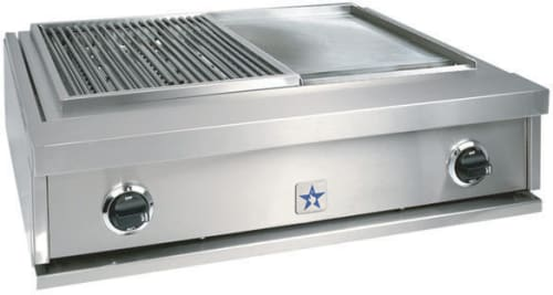 BlueStar PRZIDGCB30 30 Inch Indoor Griddle and Charbroiler with ...