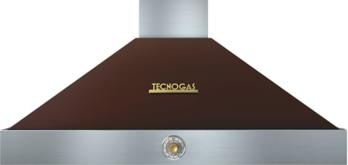 Tecnogas Superiore Deco Series HD481ACMG - Brown Wall Mount Range Hood with Gold Accents