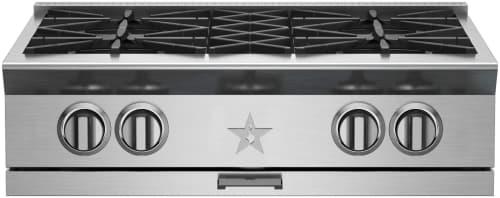 "BlueStar Platinum Series BSPRT304B - 30"" Platinum Series Rangetop with 4 Open Burners"