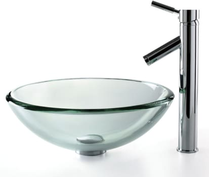 Kraus Clear Series CGV10119MM1002SN - Sheven Faucet with Chrome Finish