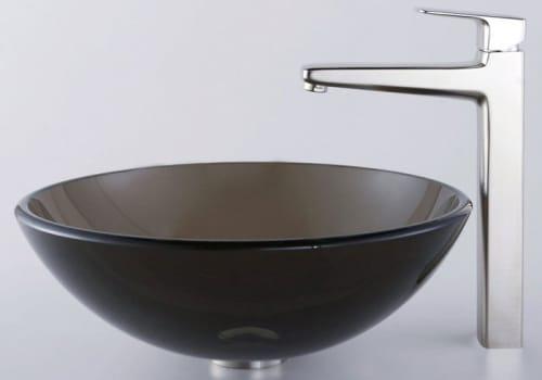Kraus Virtus Series CGV10312MM15500BN - Clear Brown Glass Vessel Sink