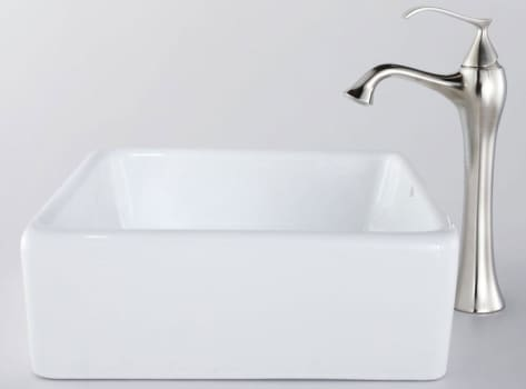 Kraus Ventus Series CKCV12015000 - Square Ceramic Sink and Ventus Faucet