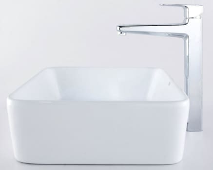 Kraus Virtus Series CKCV12115500CH - Rectangular Ceramic Sink with Virtus Faucet